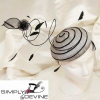 Amazing Silver and Black Fascinator SN563